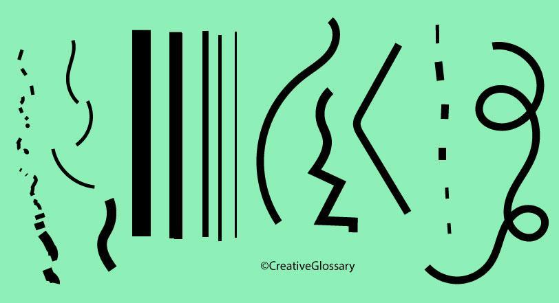 Kinds Of Lines In Art And Its Meaning : Line definition creative glossary